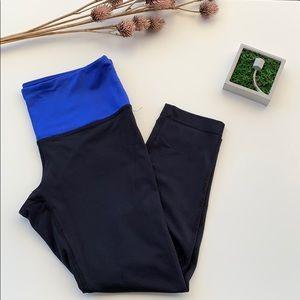 Active Capri Leggings - Black/Blue
